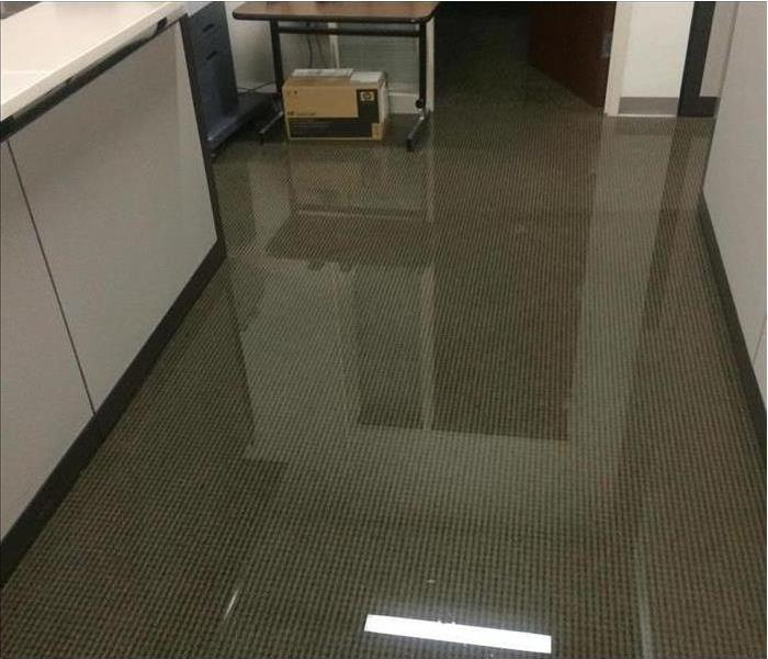 Kailua Office Flooded from a Broken Water Line Before